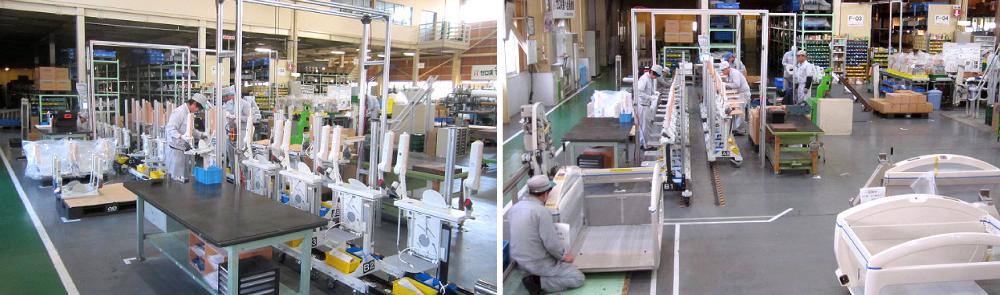 設計・材料・加工・組み立てまで、すべて国内の事業所で一貫して製作